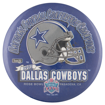 Dallas Cowboys Rose Bowl Sports Button Museum
