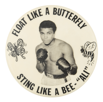 Float Like a Butterfly Sports Button Museum