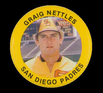 Graig Nettles San Diego Padres Sports Button Museum