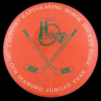 Kapuskasing Minor Hockey Sports Button Museum