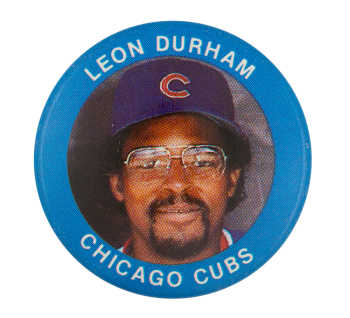 Leon Durham Chicago Cubs Sports Button Museum