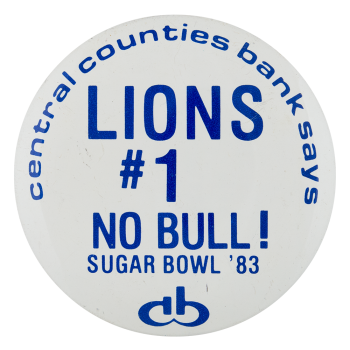 Lions Sugar Bowl Event Button Museum