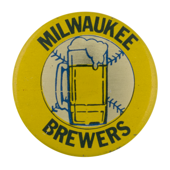 Milwaukee Brewers Sports Button Museum