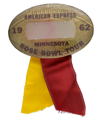 Minnesota Rose Bowl Tour Event Button Museum