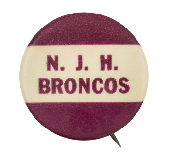 North Jr. High Broncos Sports Button Museum