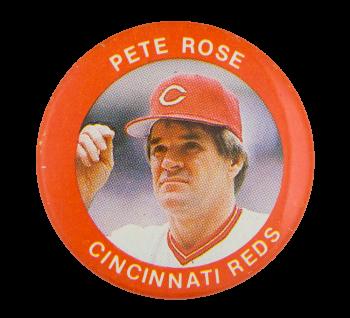 Pete Rose Cincinnati Reds Sports Button Museum