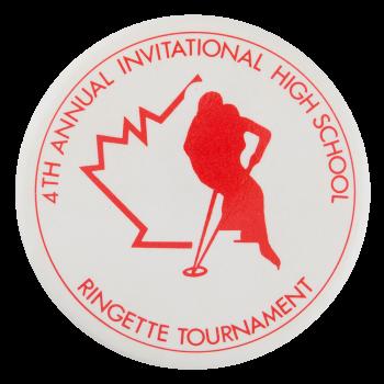 Ringette Tournament Sports Button Museum