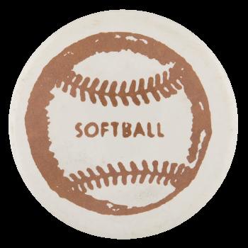 Softball Sports Button Museum