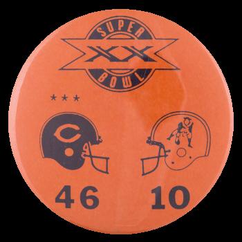 Super Bowl XX Chicago Button Museum