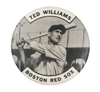 Ted Williams Boston Red Sox Sports Button Museum