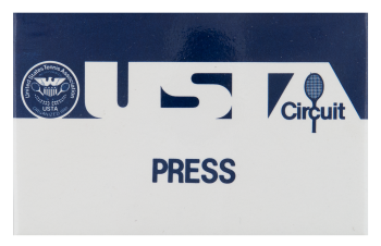 USTA Circuit Press blue Event Button Museum