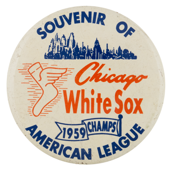White Sox American League Chicago Button Museum