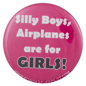 Powderpuff Pilot Advertising Busy Beaver Button Museum
