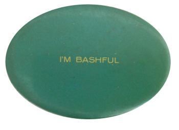 I'm Bashful Ice Breakers Button Museum