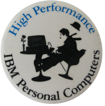High Performance IBM Advertising Button Museum
