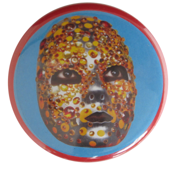 Nick Cave Sequin Mask Mask Art Button Museum