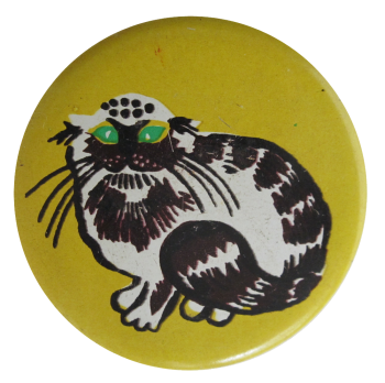 Cat With Green Eyes, Art, Button Museum