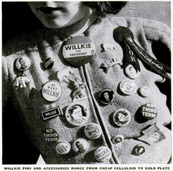 Shirt with Willkie buttons