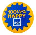 Auto Host Car Rentals Advertising Button Museum