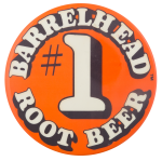 Barrelhead Root Beer Advertising Button Museum