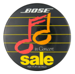 Bose in Concert Advertising Button Museum
