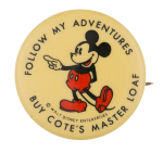 Buy Cote's Master Loaf Advertising Button Museum