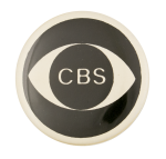 CBS Eye Advertising Button Museum