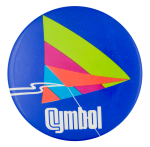 Cymbol Advertising Button Museum