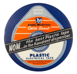 Dutch Brand Plastic Tape Advertising Button Museum