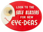 Eye-Deas Red Red Advertising Button Museum
