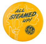 GE All Steamed Up Advertising Button Museum