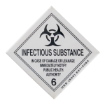 Infectious Substance Advertising Button Museum