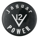 Jaguar Power Advertising Button Museum