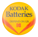Kodak Batteries Advertising Button Museum