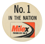 Milex Precision Auto Tune Up Advertising Button Museum