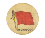 Morocco Flag Advertising Button Museum
