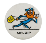 Mr. Zip Advertising Button Museum