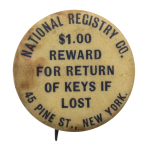National Registry Company Advertising Button Museum