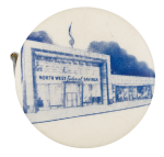 North West Federal Savings Advertising Button Museum