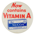 Nucoa Advertising Button Museum