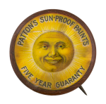 Patton's Sun Proof Paints Advertising Button Museum