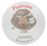 Puntoons Oxymoron Advertising Button Museum
