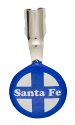 Santa Fe Railroad Advertising Button Museum