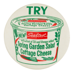 Sealtest Spring Garden Salad Cottage Cheese Advertising Button Museum