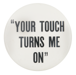 Touchlite Inc White Advertising Button