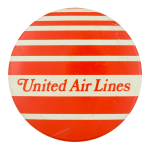 United Air Lines Advertising Button Museum