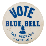 Vote Blue Bell Advertising Busy Beaver Button Museum