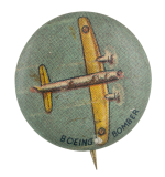 Boeing Bomber Advertising Button Museum