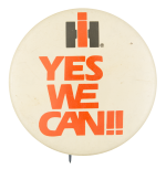 Yes We Can Advertising Button Museum