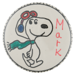 Mark Snoopy Art Busy Beaver Button Museum